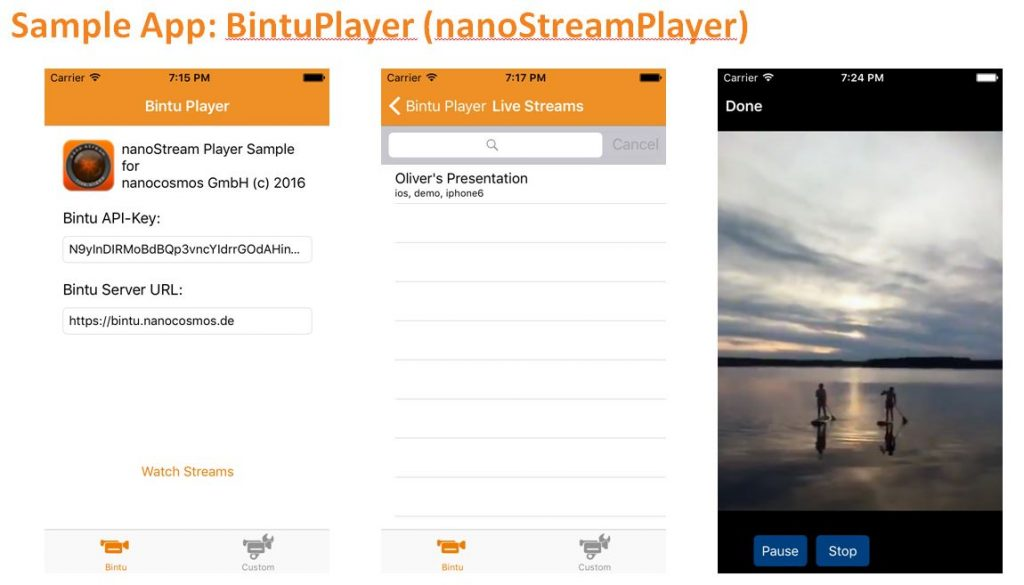 Set Up Your nanoStream Cloud Live Stream with bintu live
