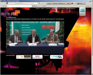 Bürgermeister Wowereit im nanocosmos Live Stream
